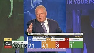 PC Leader Doug Ford gives victory speech - 2018 Ontario Election