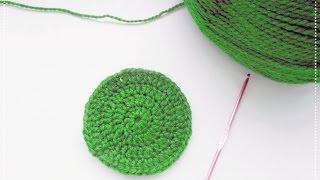 Как связать круг крючком. How to crochet a circle.