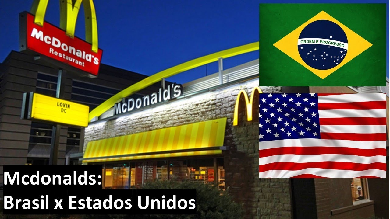 Artesanato Brasileiro Nos Estados Unidos ~ Mcdonalds Brasil x Estados Unidos YouTube