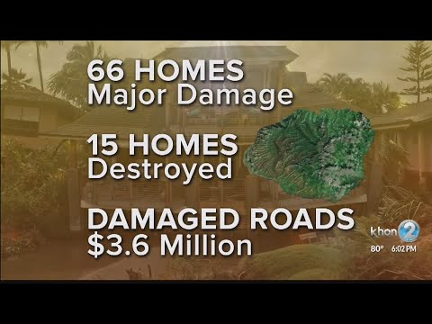 Multiple Kauai homes completely destroyed, millions more needed to repair roads after historic flood