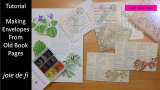 Tutorial Making Envelopes From Old Book Pages