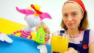 Маша и подружки. Кукла Клава болеет. Напиток из облепихи