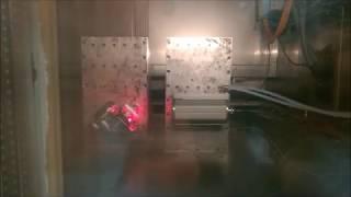 Risserkennung - Betriebsfestigkeitsversuch in der Klimakammer am Shaker (Video: 0:10 sec.)