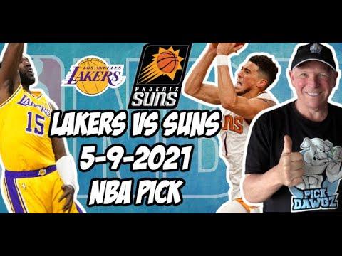 Los Angeles Lakers vs Phoenix Suns 5/9/21 Free NBA Pick and Prediction NBA Betting Tips