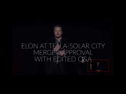 Elon Musk Answers Questions - Tesla - Solar City Merger Approved