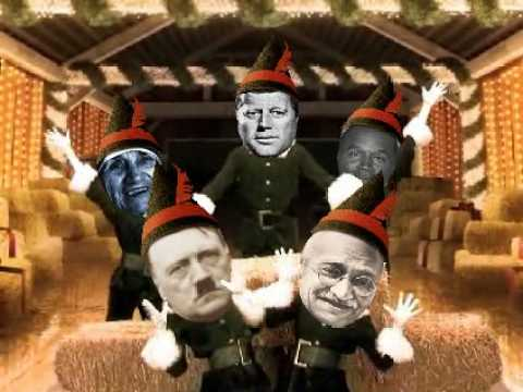 Have A Hitler, Gandhi, OJ, JFK & Mother Theresa Elfy Christmas