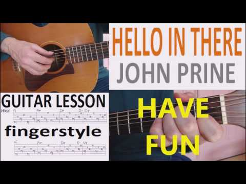 HELLO IN THERE - JOHN PRINE fingerstyle...