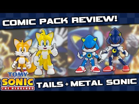 TOMY Sonic Collector Series Comic Pack Figure REVIEW - Tails & Metal Sonic!