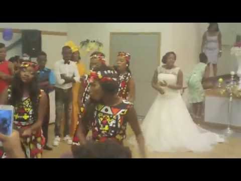 Mampe Kinsona & Family at an Angolan Wedding Party in Caluire (Lyon)/France on 25 July 2015