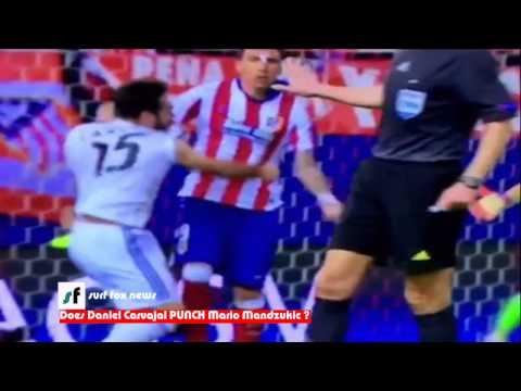 Does Daniel Carvajal PUNCH Mario Mandzukic ?