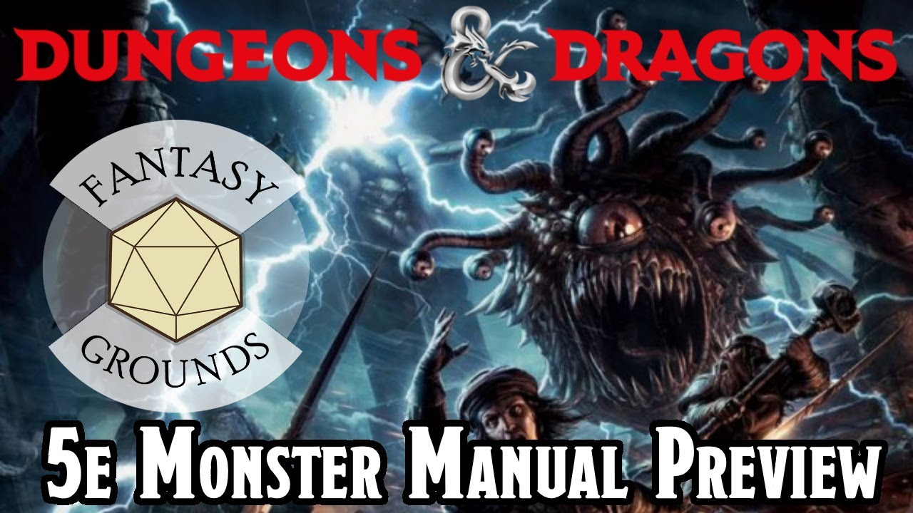 Get The D&D 5e Monster Manual For Your Fantasy Grounds Online Game -- WOTC