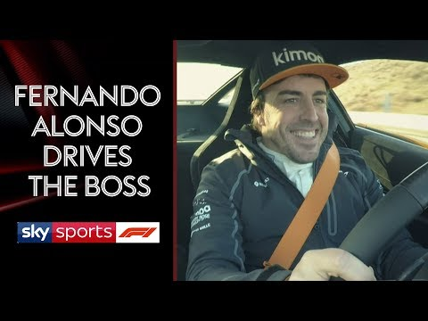 Fernando Alonso takes McLaren boss Zak Brown for a spin 🏎️💨
