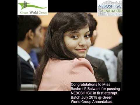 Nebosh Igc Students From Green World Group Ahmedabad India Gets