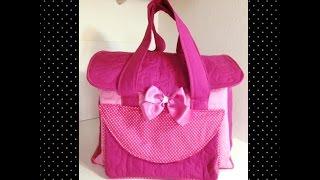 Como fazer uma bolsa maternidade para carregar coisas de bebê