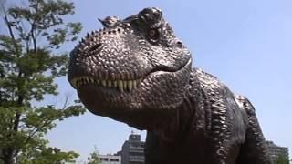 2013/07/10 ノリタケの森にて 期間限定で、ティラノサウルスとブラキオ...