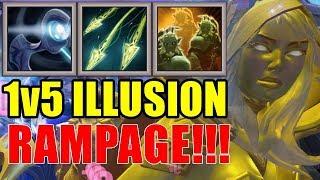 Drow Vs 5 Enemies RAMPAGE ( x2 ) | Dota 2 Ability Draft