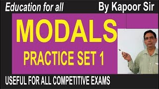 Modals-Practice Set 1 for Competitive Exams
