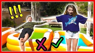 Download Don't Trust Fall Into The Wrong Mystery Pool | GROSS Challenge! | We Are The Davises Mp3 and Videos