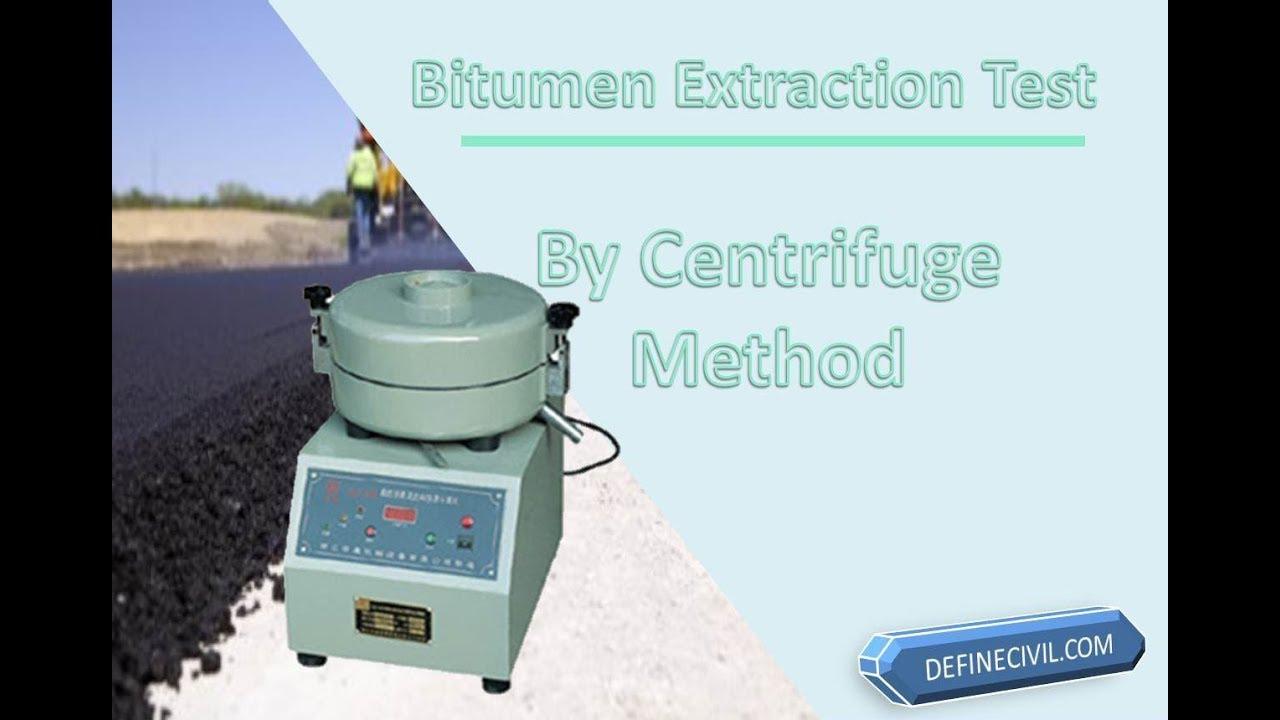Bitumen Extraction Test Apparatus Procedure Calculation Youtube