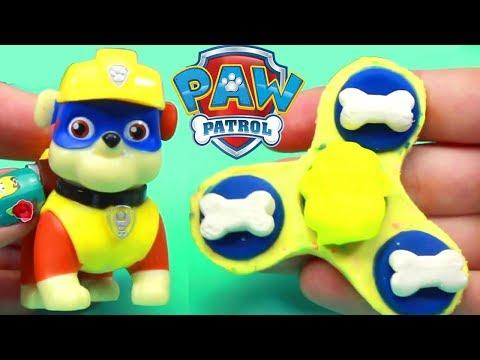 Patrulha Canina Massinha Play Doh Fidget Spinners Brinquedos Surpresas Paw Patrol em portugues