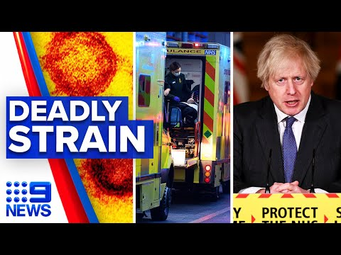 Coronavirus: UK strain revealed 30 percent more deadly | 9 News Australia thumbnail