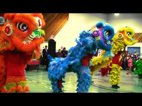 Lion Dance Calgary 2013 At Marlborough Community Centre