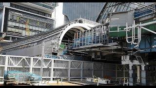 東京メトロ銀座線 移設工事中の渋谷駅 2019年10月