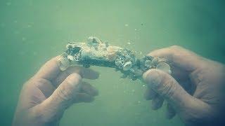 🌊💍Нашел в Море Золотые Кольца, Серьги, Цепочка. Серебро. Подводный Поиск. /HD
