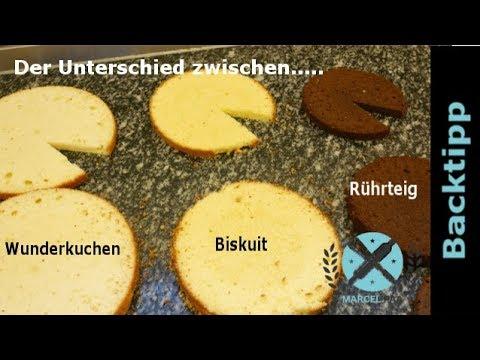 Wie Unterscheiden Sich Wunderkuchen Biskuit Und Ruhrteig Boden I