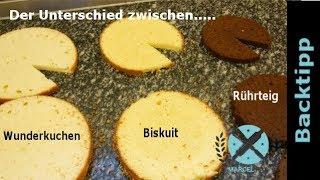 Wie unterscheiden sich Wunderkuchen, Biskuit  und Rührteig Böden I Einfach Backen - Marcel Paa