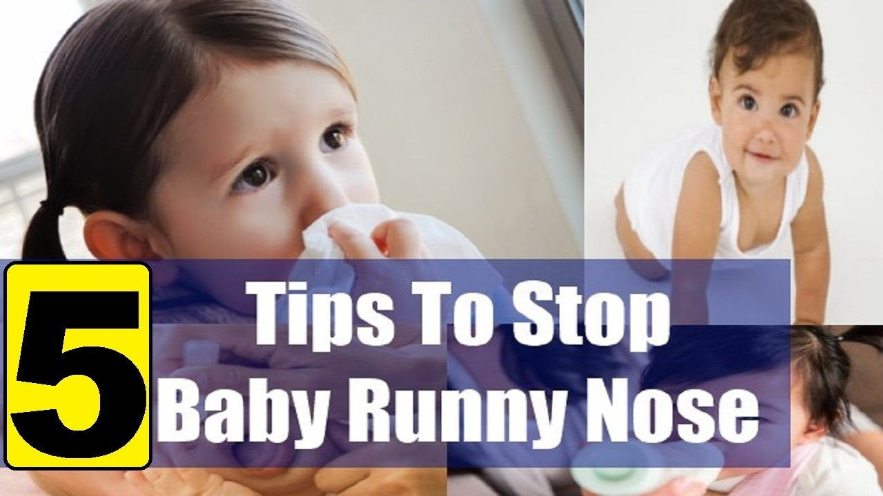Sick Baby With A Runny Nose Stock Image - Image of snot ...