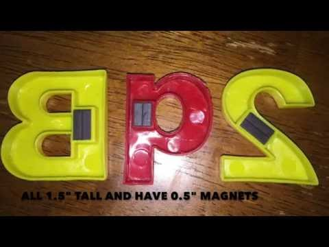 Somasix Magnetic Letters and Numbers