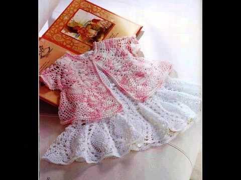 Детские платья крючком
