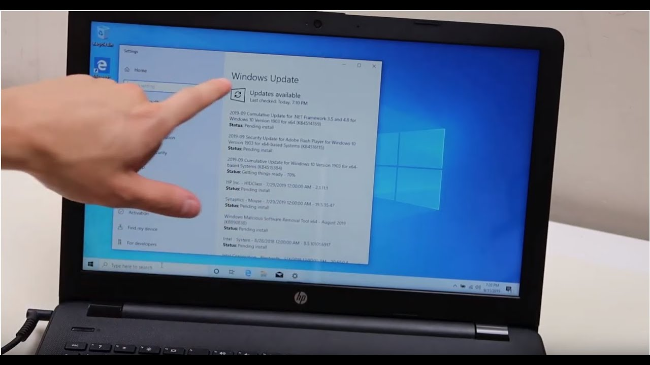 How To Update Your Windows 10 Laptop Computer Update Drivers Process Updates Shown On An Hp Youtube