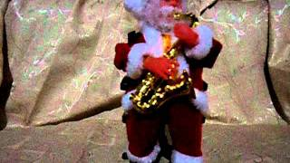 santa claus main trompet