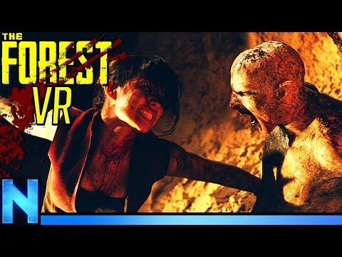We Fight The Nightmare Cave Boss! - THE FOREST VR |