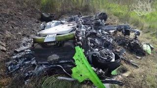 334 км/ч. Страшная авария Lamborghini Huracan. Водитель и пассажир к счастью живы.