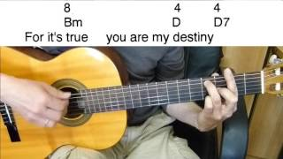 Скачать Guitar Accompaniment Only You And You Alone Easy Guitar Including Lyrics And Chords