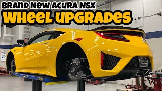 AHC Shop Hours - 2020 Acura NSX NC1 Indy Yellow with Vossen HF-4T Hybrid Forged Wheels Custom Color