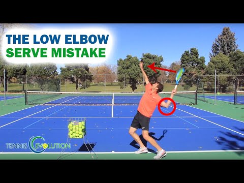 The Low Elbow Serve MISTAKE - Tennis Serve Online Lessons 2018