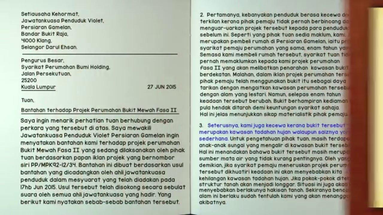 Eduwebtv Bahasa Melayu Karangan Surat Kiriman Rasmi Youtube