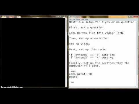 Microsoft DOS/ Batch File Tutorial