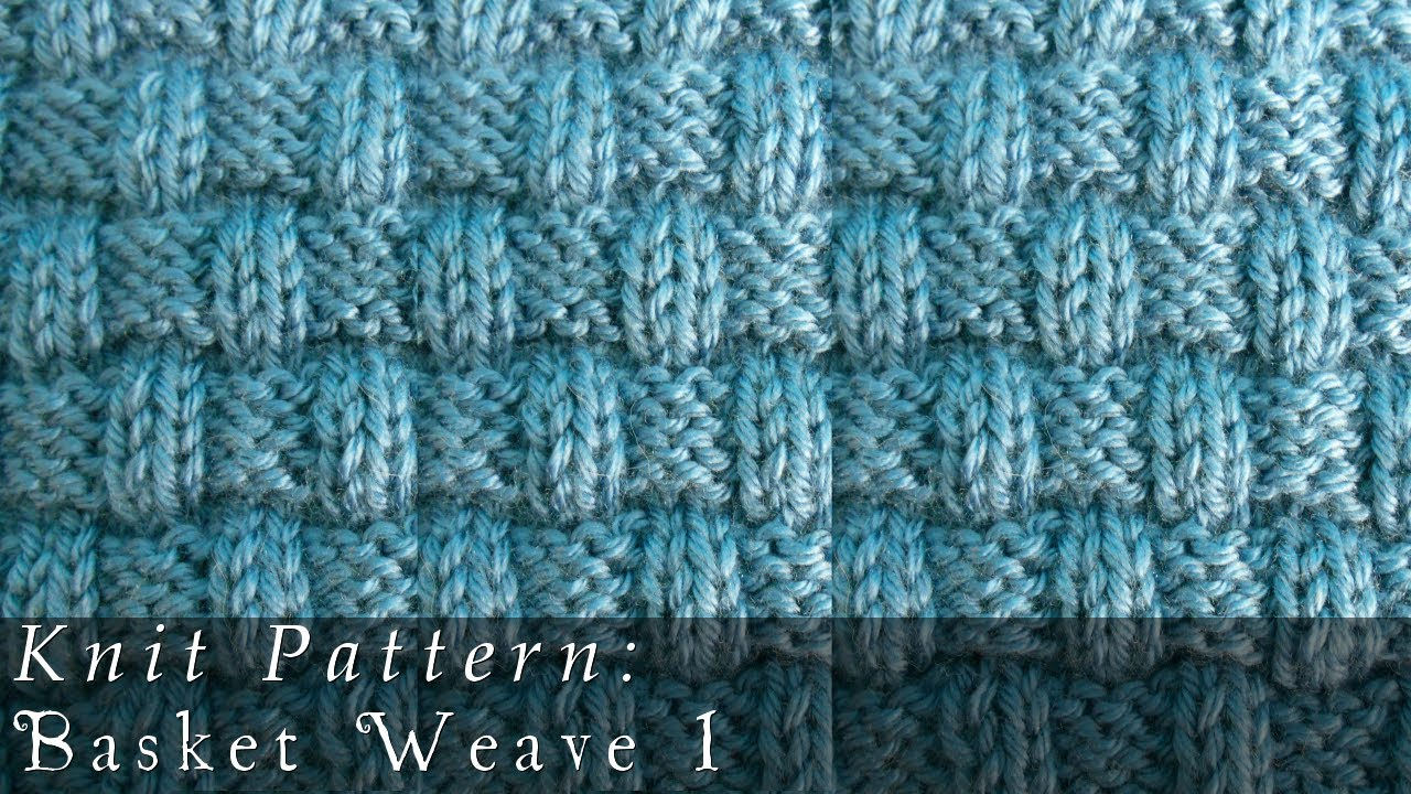 Basket Weave 1 | Knit Pattern - YouTube