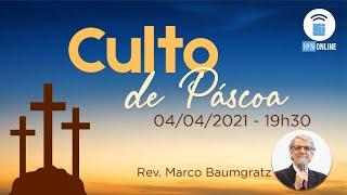 MINI LIVE DDS & CULTO DE PÁSCOA (Rev. Marco Baumgratz) – 04/04/2021 (19h)