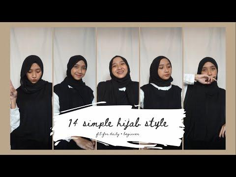 14 Hijab Style untuk Sehari-Hari, Tutorial Simple & Mudah   citraamr - YouTube