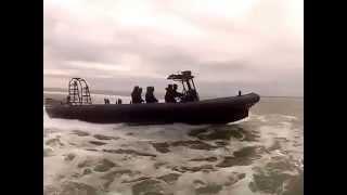 Sillinger 1200 Hors Bord bateau semi-rigide force spéciales