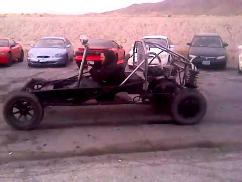 home made go kart first burnout - YouTube