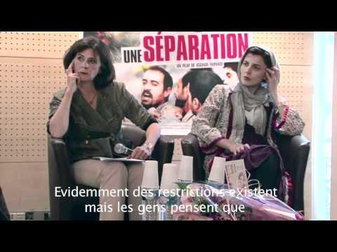 Asghar Farhadi et Leila Hatami pour la sortie du film Une séparation, Ours d'or 2011 à Berlin