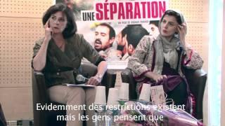 Asghar Farhadi et Leila Hatami pour la sortie du film Une séparation, Ours d