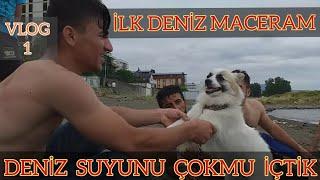 İlk Kez Denize Girdim - Trabzon Sahili Vlog 1